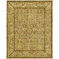 Handmade Mahal Light Brown/ Beige N.Z. Wool Rug (7&#39;6 x 9&#39;6)