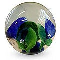 Hand-blown Murano Glass 'Aquarium' Paperweight (Brazil)