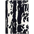 Handmade Soho Deco Black/ White New Zealand Wool Rug (2' x 3')