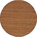 Hand-woven Brown Jute Rug (6' Round)