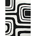 nuLOOM Hand-tufted Pino Collection Geometric Black Rug (5' x 8')