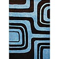 nuLOOM Hand-tufted Pino Collection Abstract Brown Rug (7'6 x 9'6)
