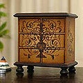 Cedar &#39;Illusion&#39; Jewelry Chest (Peru)