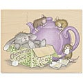 House Mouse &#39;Chamomile Tea&#39; Wood-mounted Rubber Stamp