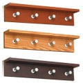 Safco Contempo 4-hook Wood Wall Rack