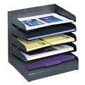 Safco 5-tier Steel Black Desk Tray