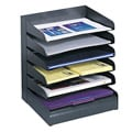 Safco Steel Black 6-tier Desk Tray