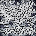 Handmade Soho Pebbles Black/ Grey N. Z. Wool Rug (6' Square)