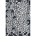 Handmade Soho Pebbles Black/ Grey N. Z. Wool Rug (3'6 x 5'6)