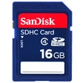 SanDisk 16GB Secure Digital SD/ SDHC Memory Card (Class 4)