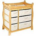 Badger Basket Natural 6-basket Changing Table