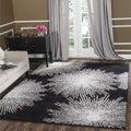 Safavieh Handmade Soho Burst Black New Zealand Wool Rug (5' x 8')