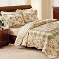 Greenland Home Fashions Bliss Ivory Pillow Shams (Set of 2)