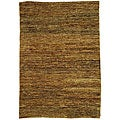 Hand-knotted All-Natural Horizons Gold Hemp Runner (2'6 x 10')