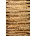 Hand-knotted All-Natural Fields Beige Hemp Rug (3' x 5')