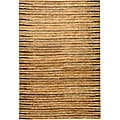 Hand-knotted All-Natural Fields Beige Hemp Rug (5' x 8')
