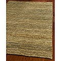 Hand-knotted All-Natural Hayfield Beige Hemp Runner (2'6 x 10')