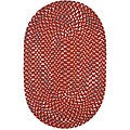 Riverside Braided Red/ Multi Cotton Rug (6' Round)