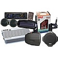 Pyle KTMRAK14BK 6-speaker Marine AM/ FM SD/ USB Complete Stereo Kit