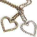 Sweet Romance Crystal Outline Heart Necklace