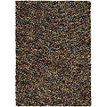 Hand-woven Geminine New Zealand Wool Shag Rug (9' x 13')