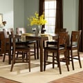 Watson Warm Brown 7-piece Counter Height Dining Set