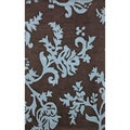 Hand-tufted Alexa Pino Collection Floral Blue Rug (4' x 6')