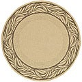 Safavieh Indoor/ Outdoor Tranquil Natural/ Brown Rug (6'7 Round)