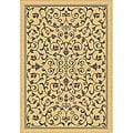Indoor/ Outdoor Resorts Natural/ Brown Rug (2'7 x 5')