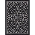 Safavieh Indoor/ Outdoor Resorts Black/ Sand Rug (2'7 x 5')