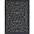 Safavieh Indoor/ Outdoor Resorts Black/ Sand Rug (4' x 5'7)