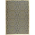 Indoor/ Outdoor Matrix Sand/ Black Rug (9' x 12')
