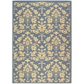 Safavieh Indoor/ Outdoor Seaview Natural/ Blue Rug (4' x 5'7)