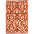 Indoor/ Outdoor Seaview Red/ Natural Rug (2'7 x 5')