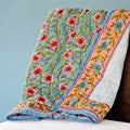 Hand-blocked Cotton Barni Throw (India)