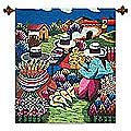 'Flower Sellers' Wool Tapestry (Peru)