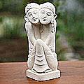Sandstone 'Sweethearts' Statuette (Indonesia)