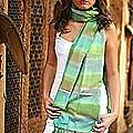 Silk 'Sea Waves' Shawl (India)
