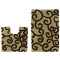 Celebration New Scroll Bath and Contour Rug 2-piece Set