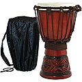 Mahogany Celtic Labyrinth Djembe Drum (Indonesia)