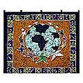 Cotton 'Teamwork' Batik Wall Hanging (Ghana)
