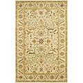 Handmade Mahal Ivory Wool Rug (3&#39; x 5&#39;)