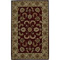 Hand-tufted Caspian Red Wool Rug (8&#39; x 10&#39;6)