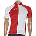 ETA Men's Short-sleeve White/ Red Cycling Jersey