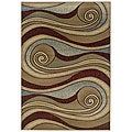 Adana Brown/ Blue Rug (2' x 3')