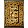 The Lodge Fish Southwestern Rug (8' x 11')