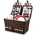 Picnic Time Pioneer Moka Canvas basket svc for 2