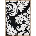 Hand-tufted Quill Feather Black/ White Wool Rug (8' x 10')