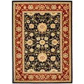 Lyndhurst Collection Majestic Black/ Red Rug (4' x 6')