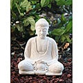 White Sandstone Buddha Statue (Indonesia)
